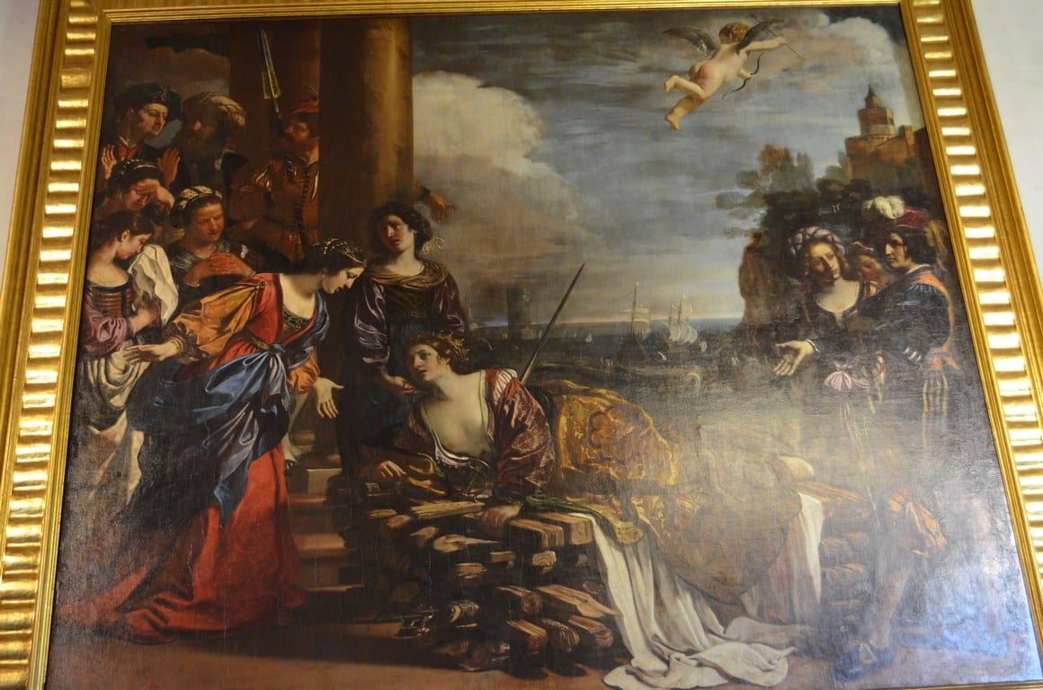 muerte de la reina dido guercino galeria spada