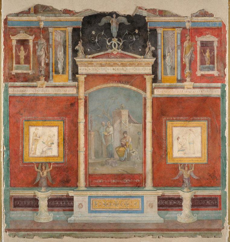 decoracion segundo estilo pompeyano palazzo massimo alle terme