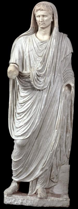 estatua augusto pontifice palazzo massimo alle terme