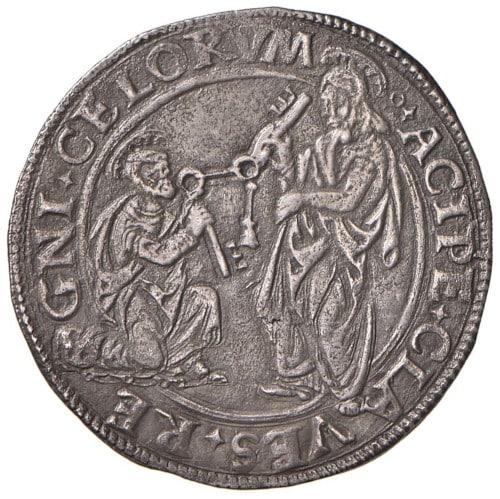 moneda alejandro vi borgia llaves