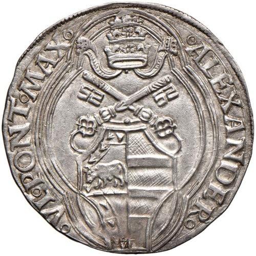 moneda Alejandro VI papa Borgia