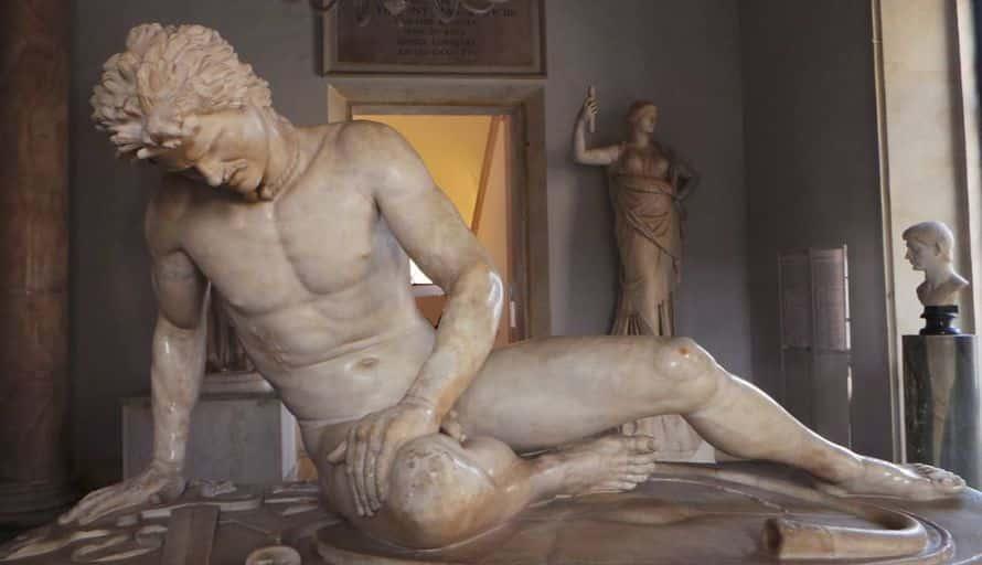 museos capitolinos palazzo nuovo galata moribundo