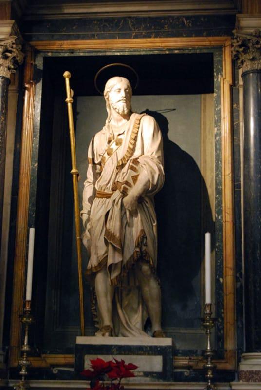 Santiago, escultura de Sansovino en la iglesia de Montserrat en Roma