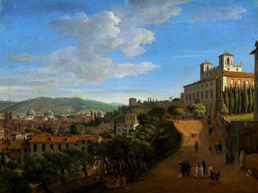 vanvitelli 1713 vista roma sin escalinata plaza españa
