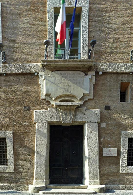 Carceri Nuove edificio Inocencio X entrada via giulia