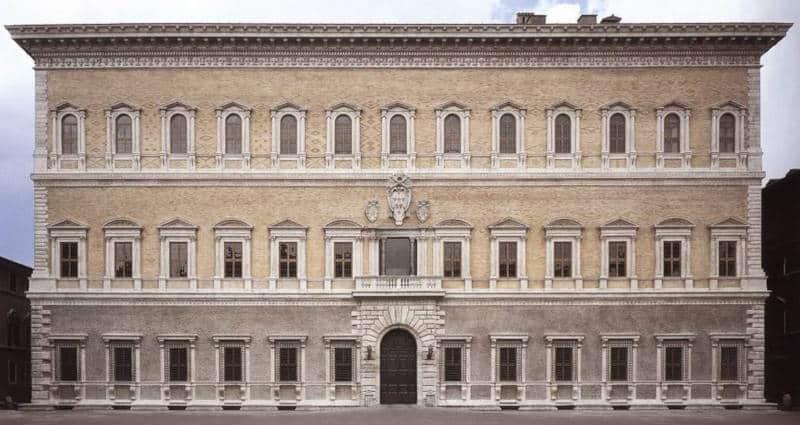 fachada de palacio farnese antonio da sangallo