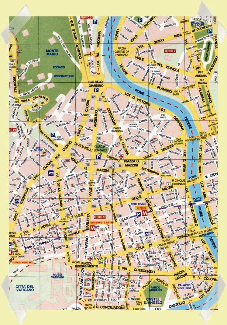 mapa roma prati