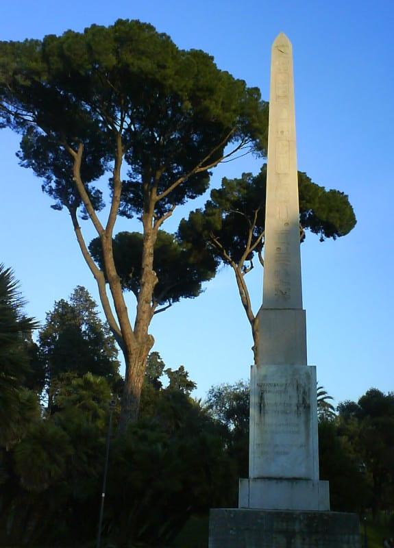 obelisco villa celimontana