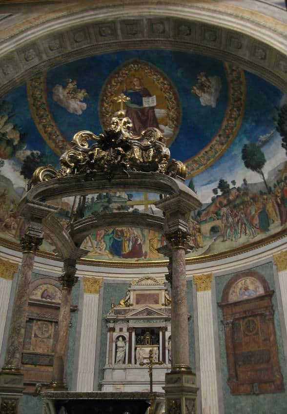 santa croce in gerusalemme altar abside