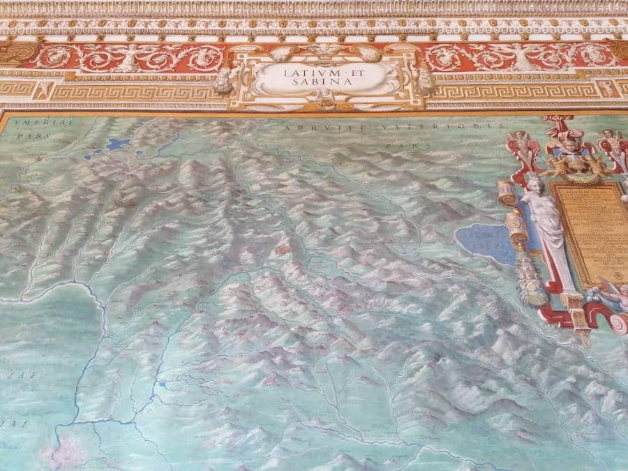 galeria mapas lacio museos vaticanos