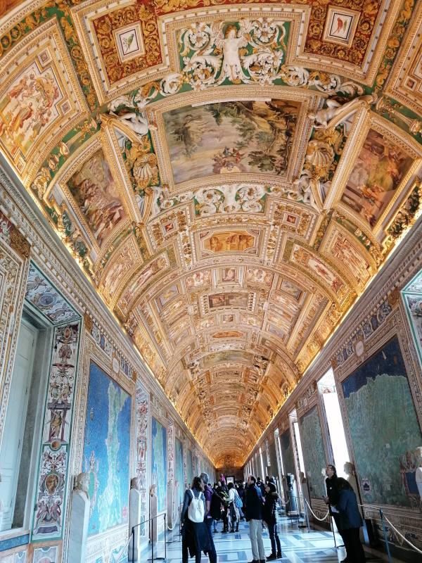 galeria mapas museos vaticanos vista