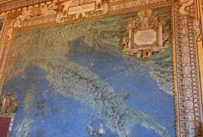 galeria de los mapas museos vaticanos italia