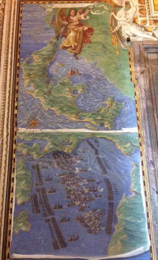 galeria mapas museos vaticanos lepanto
