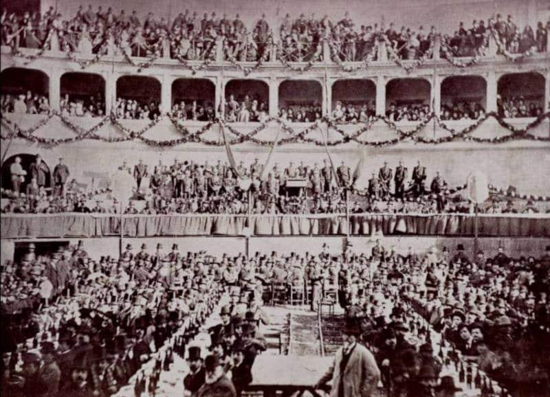 banquete en honor de garibaldi en 1875 mausoleo augusto