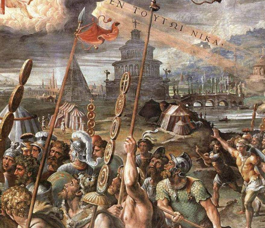 batalla del puente milvio estancias de rafael