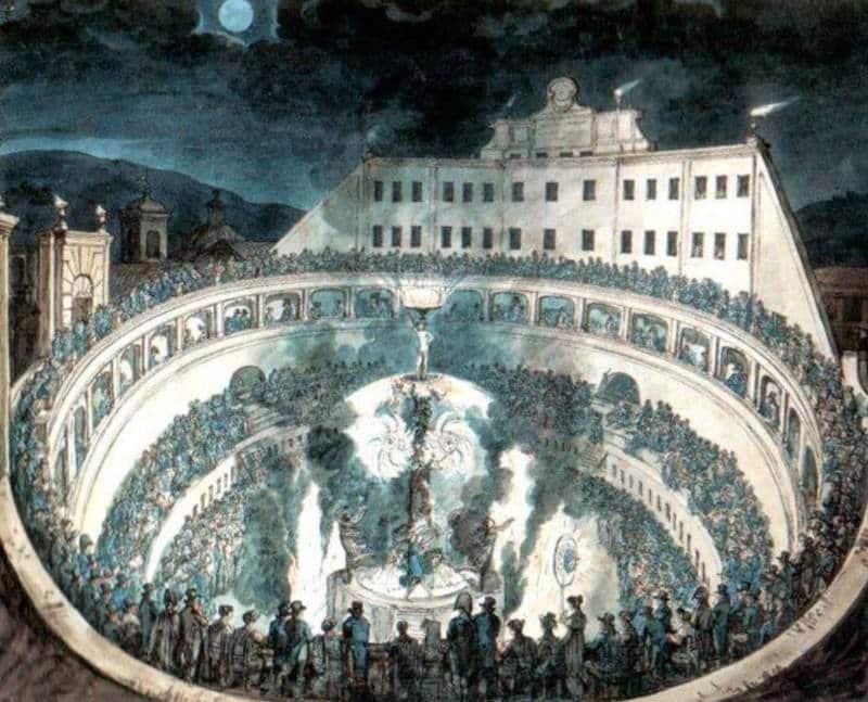 piranelli fuegos artificiales en el mausoleo de augusto