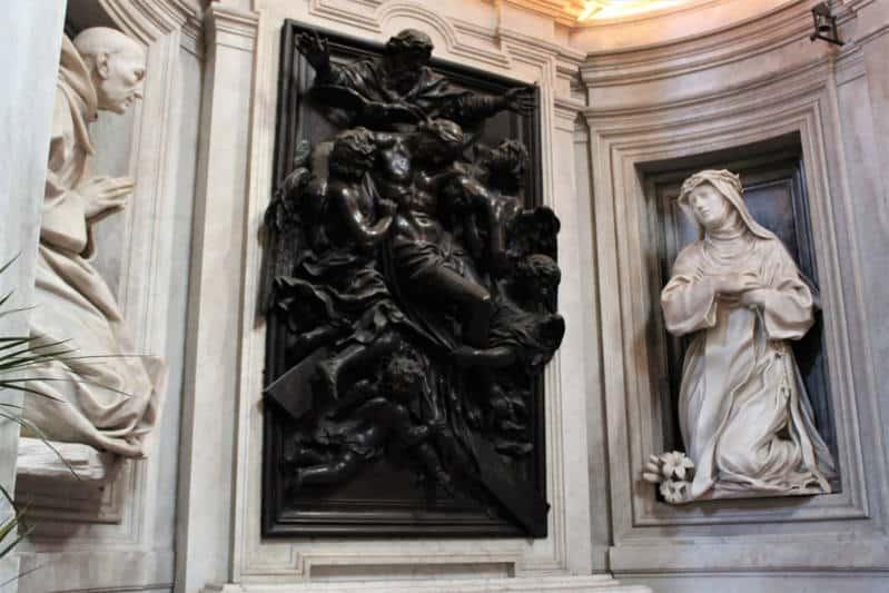 capilla chigi santa maria de la paz esculturas