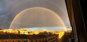 arco iris en roma