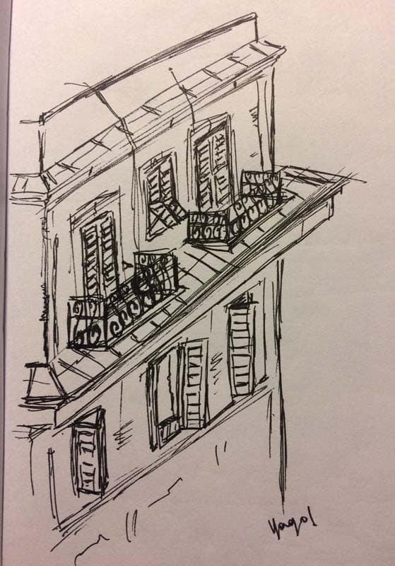 balcones de roma durante la epidemia
