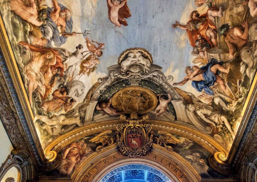 eneas en la galeria del palacio Pamphilj