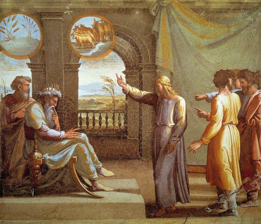 jose explica los sueños al faraon logias de rafael en el vaticano