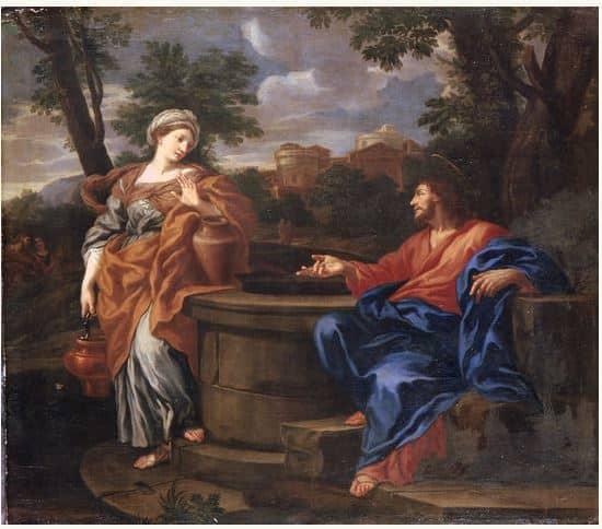 samaritana y jesus junto al pozo francesco fernandi