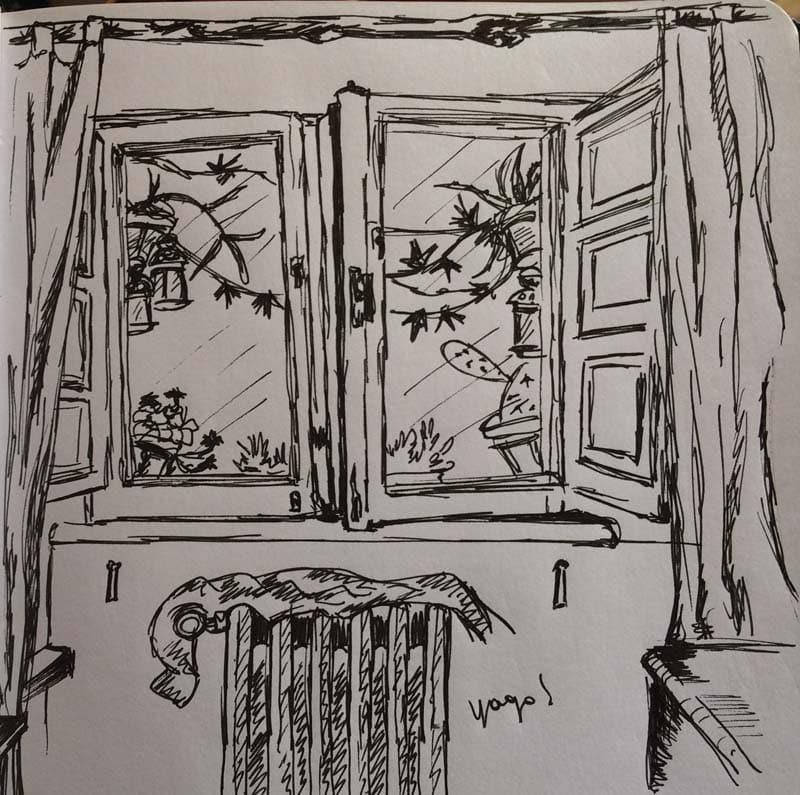 ventana casa roma