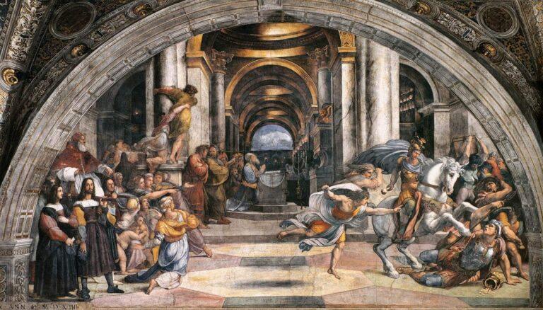 rafael expulsion de heliodoro del templo