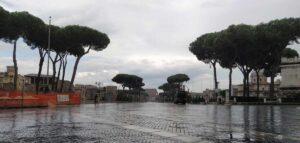 via fori imperiali con lluvia
