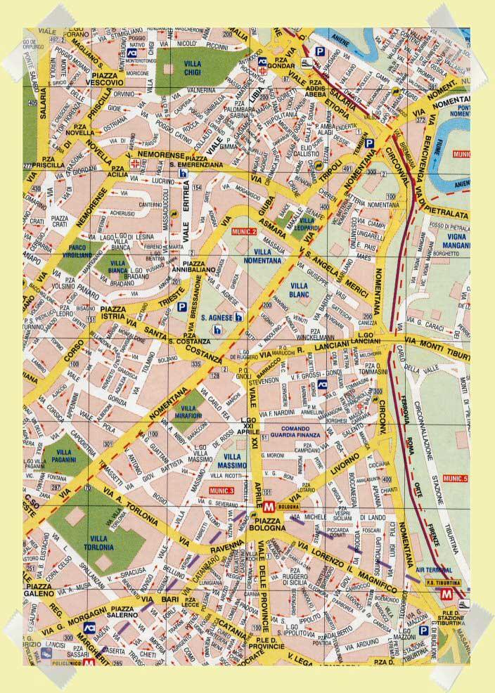 mapa nomentana