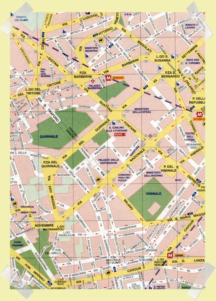 mapa quirinale