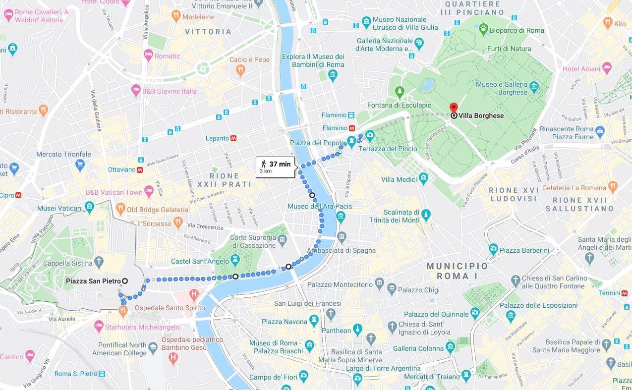 itinerario segundo día en Roma
