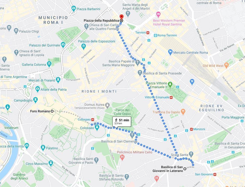 itinerario primer día qué ver en Roma