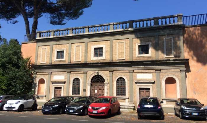 fachada casa miguel angel roma