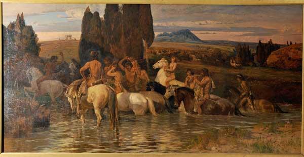 Cuadro de Coleman en la Galleria Nazionale di Arte Moderna