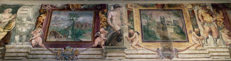 colinas roma viminal quirinal frescos
