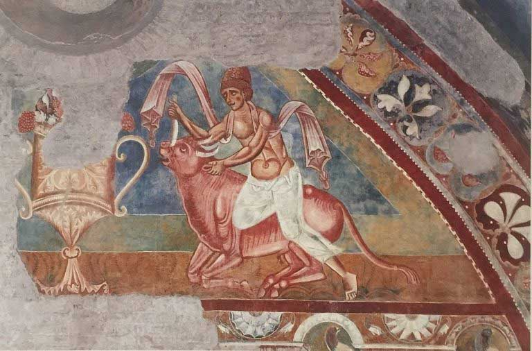 mitra tauroctono aula gotica santos cuatro coronados