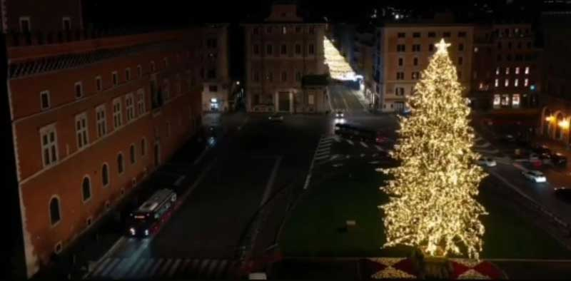 navidad arbol plaza venezia roma