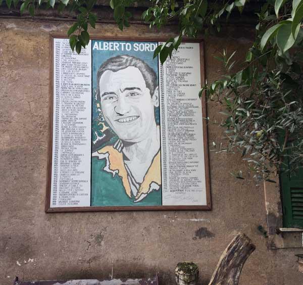 mural alberto sordi garbatella