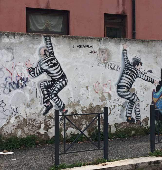 muro barrio primavalle