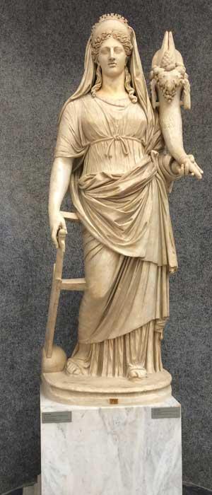 estatua diosa fortuna museos vaticanos