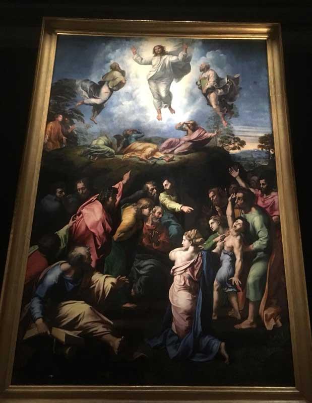 transfiguracion raffaello pinacoteca vaticana