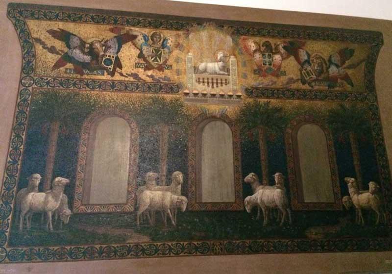 proyecto mosaico fachada iglesia piazza buenos aires