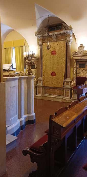 sefardita bajo sinagoga roma