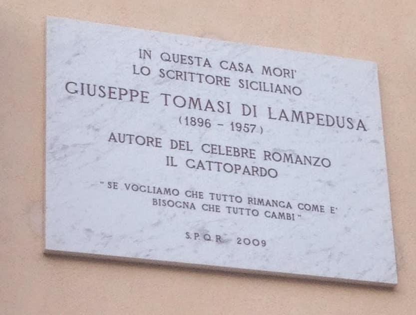 tomasi lampedusa casa en donde murió en Roma